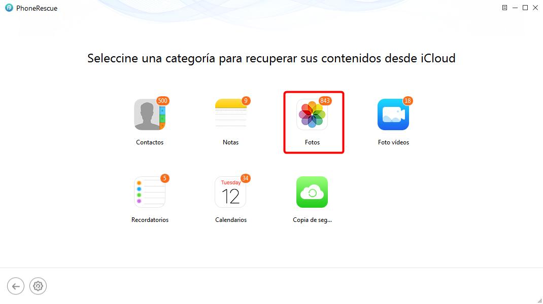 Recuperar fotos de iCloud selectivamente