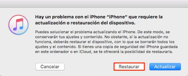"""Forzar la inicialización del iPhone en """"Modo de recuperación"""""""