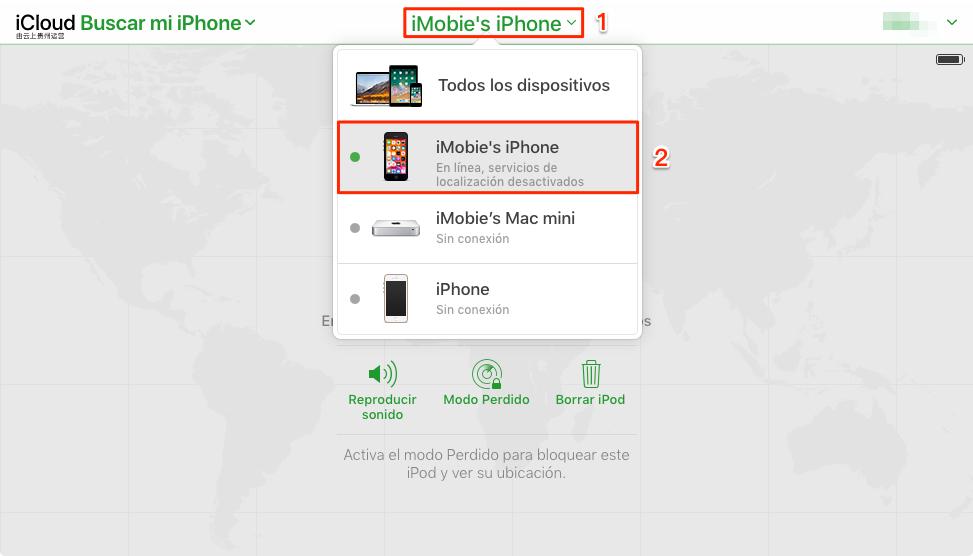"""Inicialice a la fuerza el iPhone con """"Buscar iPhone"""""""