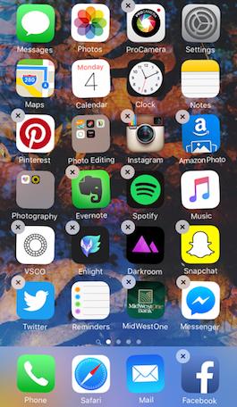 Cómo organizarApps iPhone -Método 1