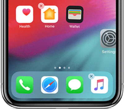Organizar iconos iPhone mediante el Dock