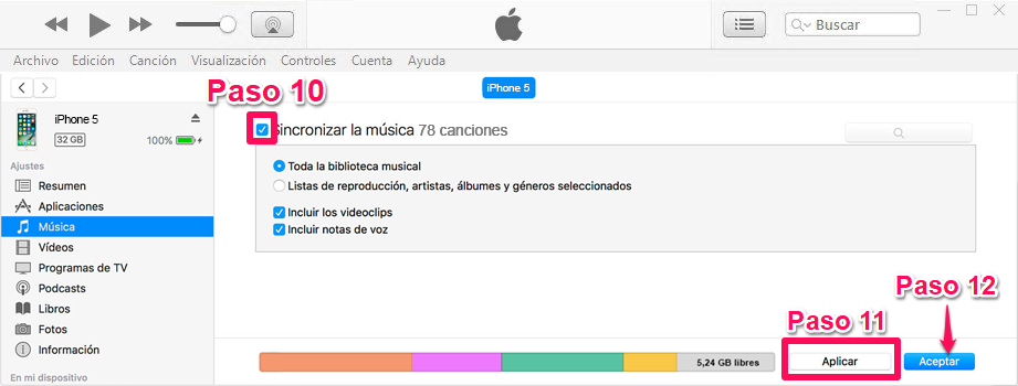 Con iTunes
