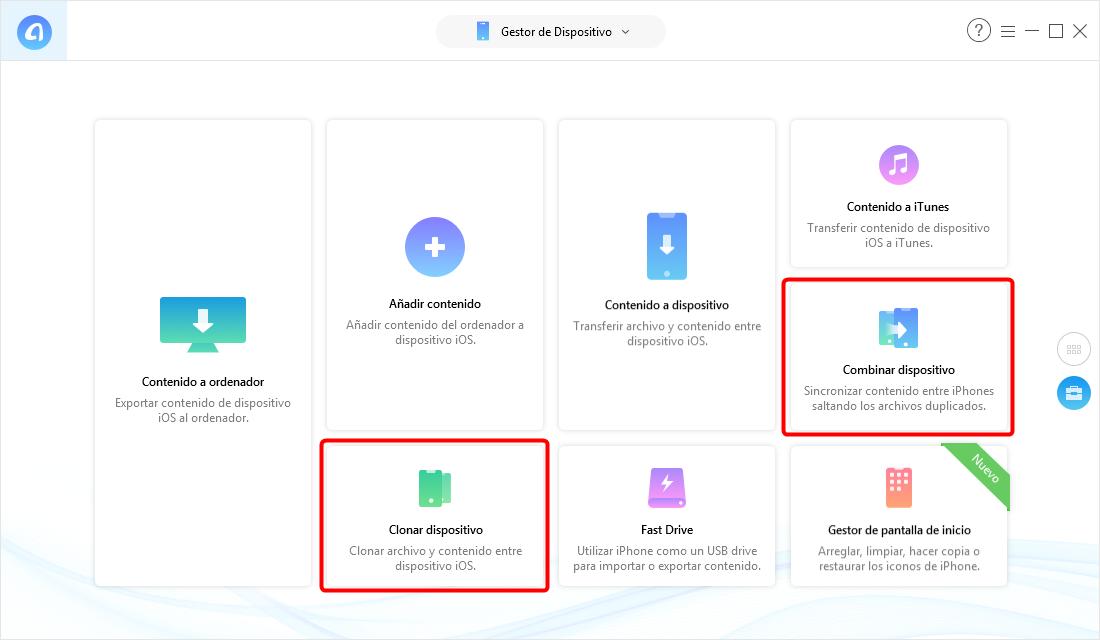 Pasar datos a un nuevo iPhone por AnyTrans para iOS - Paso 2