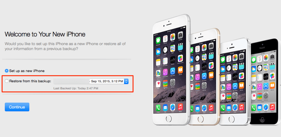 Transferir datos a un nuevo iPhone por iTunes