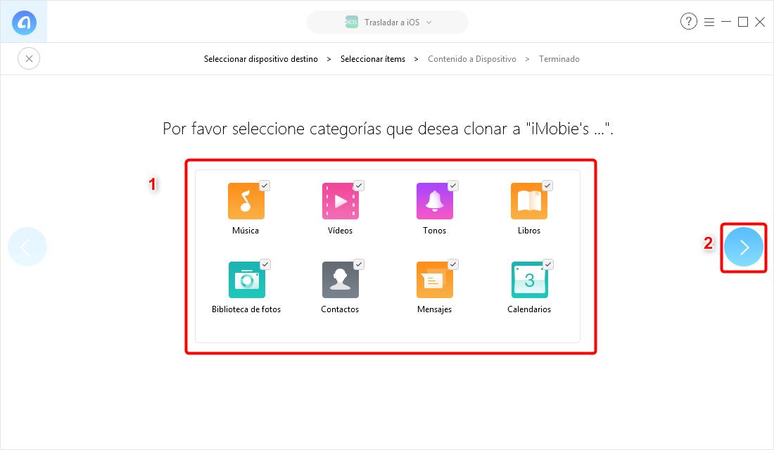 Pasar datos de Android a iPhone XR / XS / XS Max con un clic