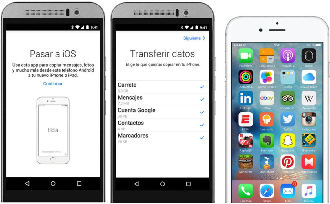 Pasar datos de Android a iPhone XR / XS / XS Max por Trasladar a iOS