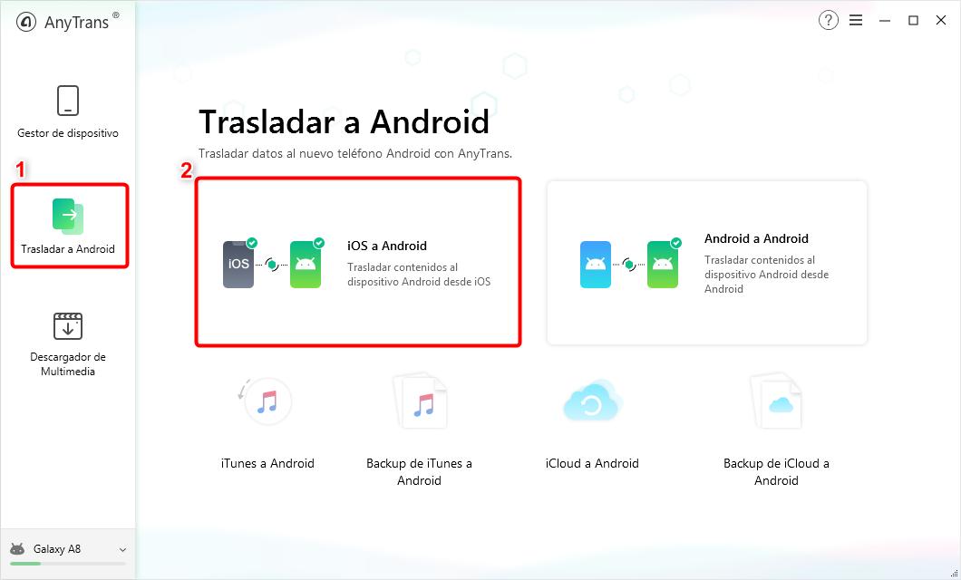 Cómo pasar datos de un iPhone a un Android - Paso 2