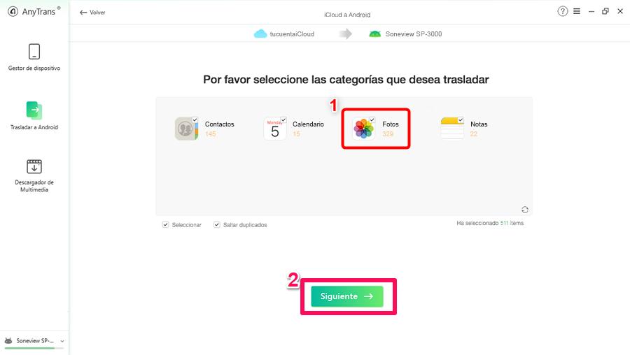 Pasar fotos de iCloud a Android
