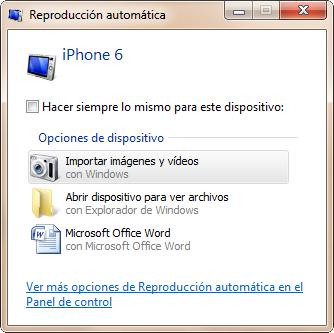 Pasar fotos del iphone 6 al PC - paso 1