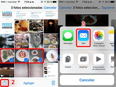 Enviar fotos del iPhone a Windows por correo electrónico