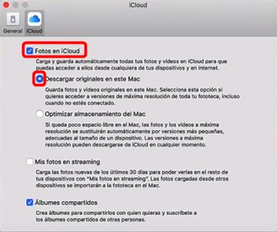 Enviar fotos del iPhone a la Mac con iCloud