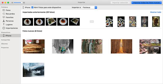 Enviar fotos del iPhone a la Mac con Fotos