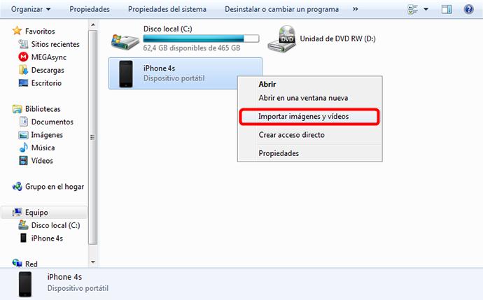 Enviar fotos del iPhone a Windows