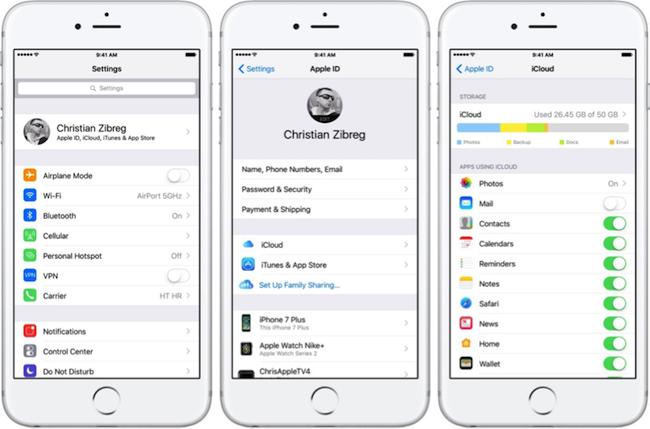 Pasar información de iPhone a iPhone a través de iCloud Sincronizar - Paso 2