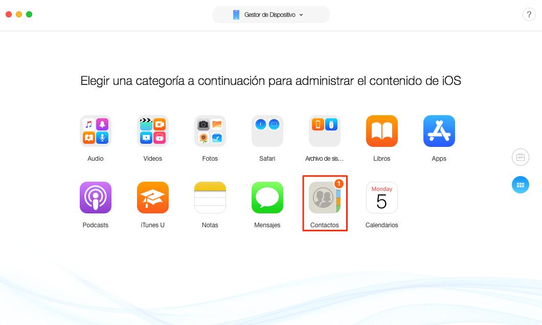 Pasar informaciones de iPhone a iPhone fácil y rápidamente - Paso 2