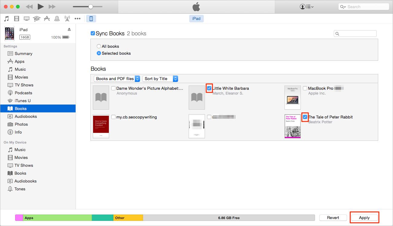 Cómo pasarlibros del ordenador al iPad con iTunes