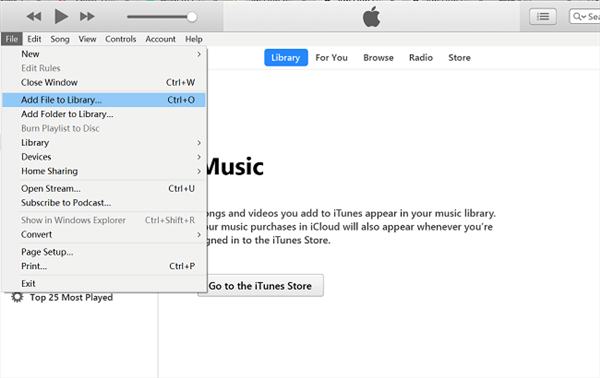 Método 1: Pasar la música descargada de Amazon a iTunes directamente