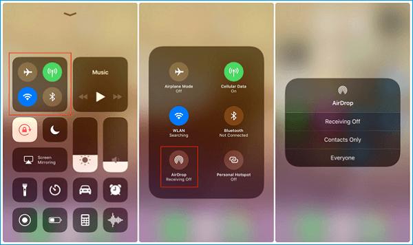 Cómo pasar música de iPhone a iPhone con AirDrop - Paso 1