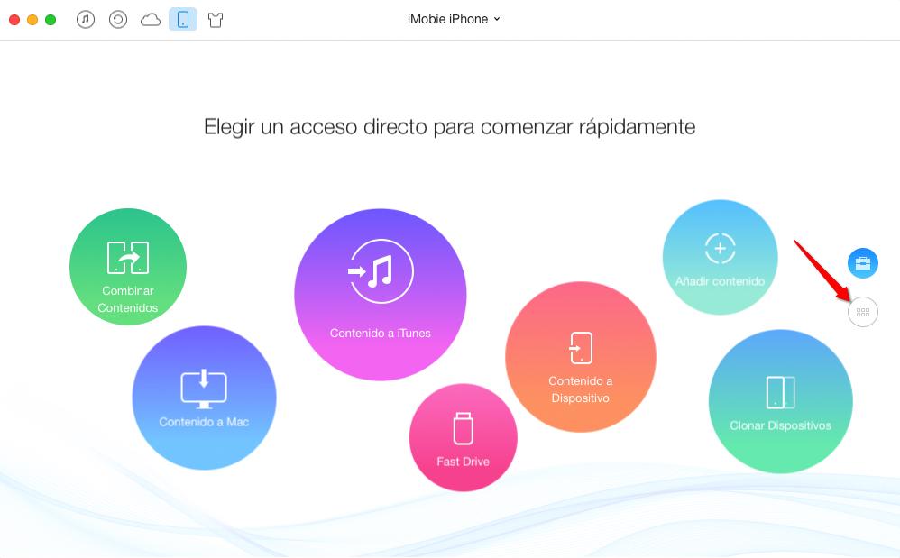 Pasar música al iPhone con AnyTrans - paso 1