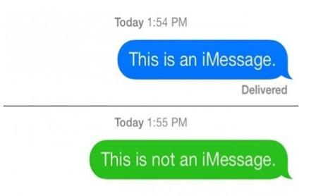 ¿Por qué los mensajes de texto de iPhone a otro iPhone cambiaron de verde?