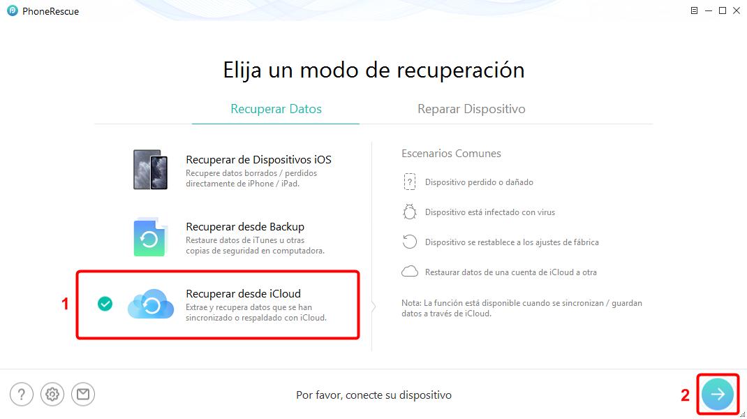 PhoneRescue para iOS