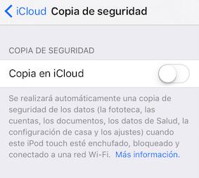 Problemas con iCloud:Copia de seguridad de iCloud no funciona
