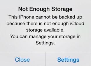 Problemas con iCloud - Espacio de almacenamiento iCloud saturado