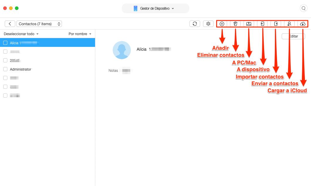 Realizar copia de seguridad de contactos de iPhone fácilmente