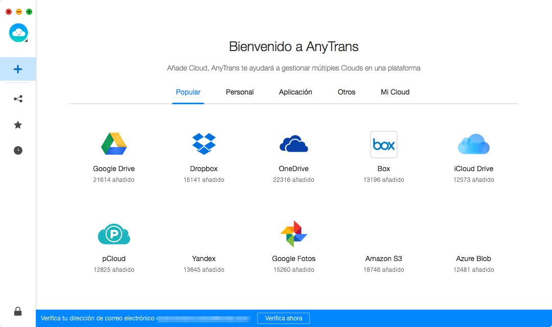 Exporta archivos de iPhone X a la nube