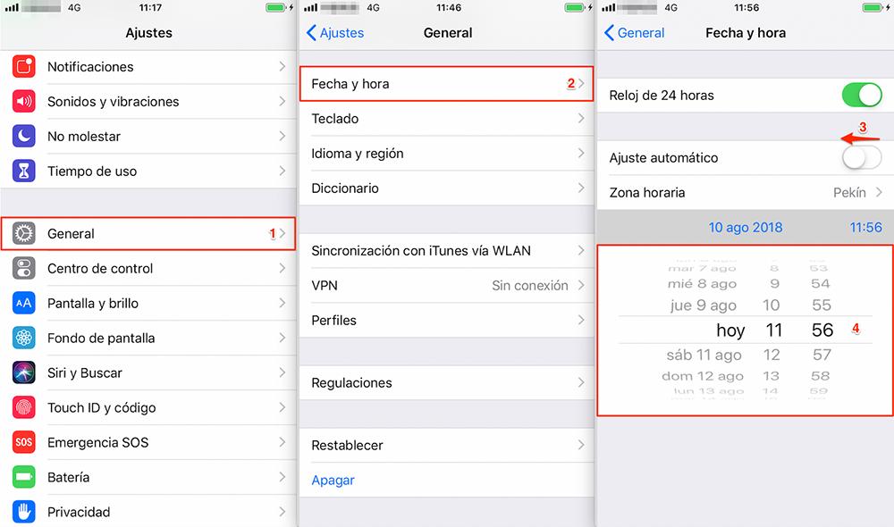 Problemas de iOS 12/12.1.1