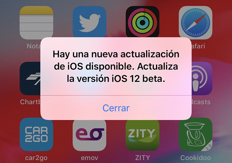 Error de iOS 12.3. Foto de Applesfera