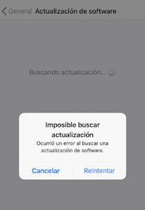 Errores  debido a la actualización de iOS 12/12.1.1 - Solucionado durante la actualización a iOS 12/12.1.1