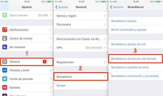 Problema de iOS 12.1.1/12.1.2 – Restablecer el teclado