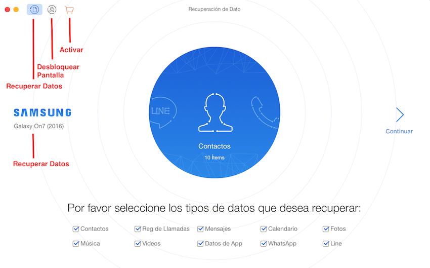 Programa para recuperar fotos - PhoneRescue para Android