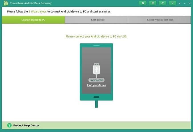 Programa para restaurar fotos - Tenorshare Android Recovery