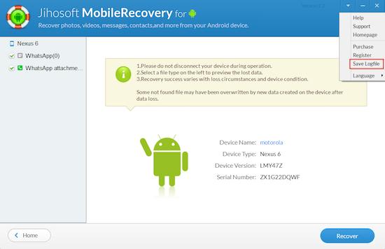 Mejor programas de recuperación de datos Android -Gihosoft Android Data Recovery