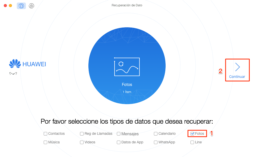 Cómo recuperar archivos borrados Android con PhoneRescue - Paso 2