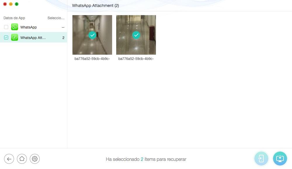 Cómo recuperar archivos borrados de WhatsApp de iPhone - Paso 3