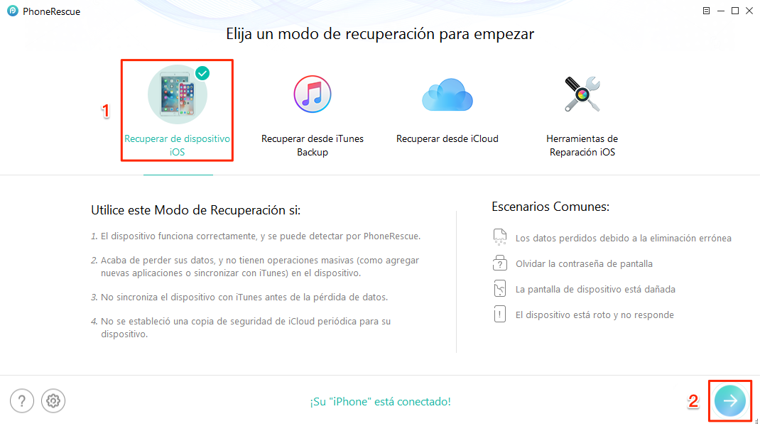 Cómo recuperar audios de WhatsApp borrados en iPhone - Paso 1