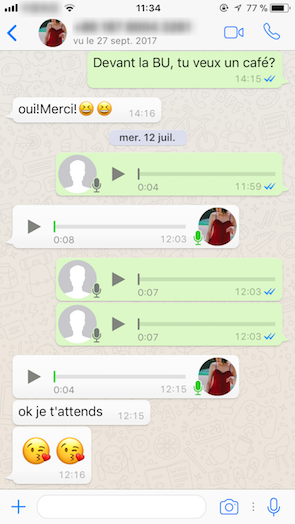 Cómo recuperar un audio de WhatsApp en iPhone - Paso 4