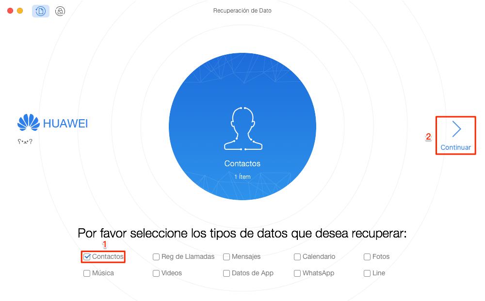 Cómo recuperar contactos Android - Paso 2