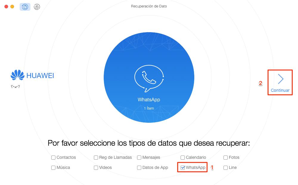Cómo recuperar conversaciones WhatsApp Android sin copia de seguridad - Paso 2