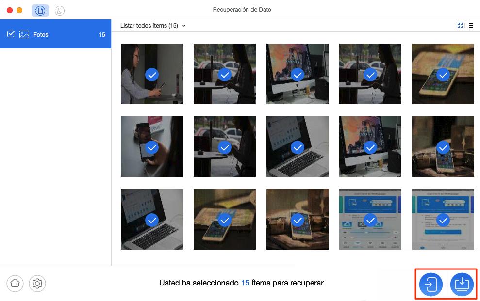 Cómo recuperar fotosborradas del Samsung Galaxy S5/S6/S7/S8/S9 - Paso 3