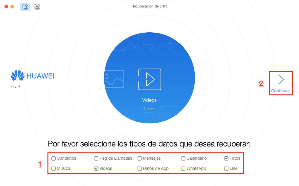Cómo recuperar fotos y videos borrados en Android - Paso 2