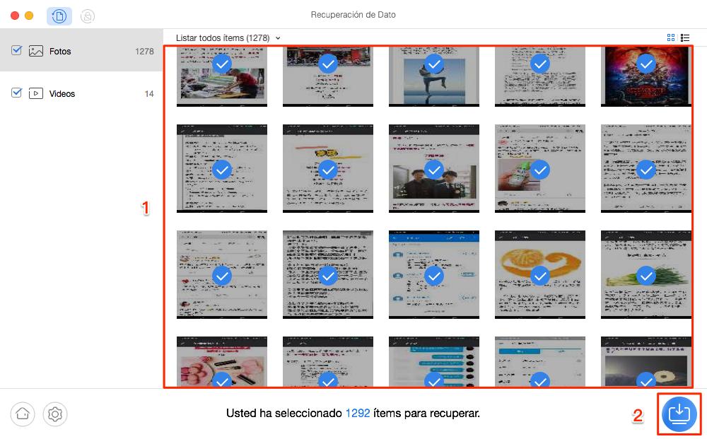 Cómo recuperar fotos y videos borrados en Android - Paso 3