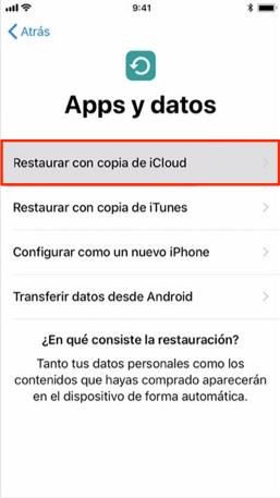 Cómo recuperar historial de llamadas iPhone desde iCloud - Paso 3