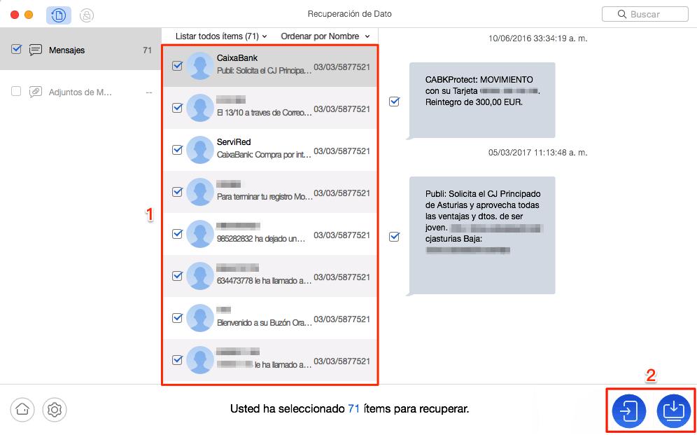 Cómo recuperar mensajes de texto borrados de un celular Samsung sin copia - Paso 2