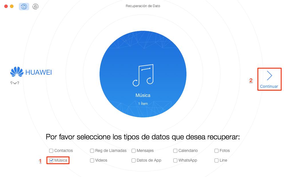Cómo recuperar música borrada Android sin copia de seguridad - Paso 1