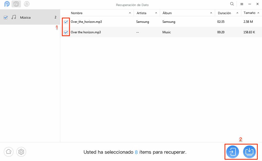 Cómo recuperar música borrada Android sin copia de seguridad - Paso 2