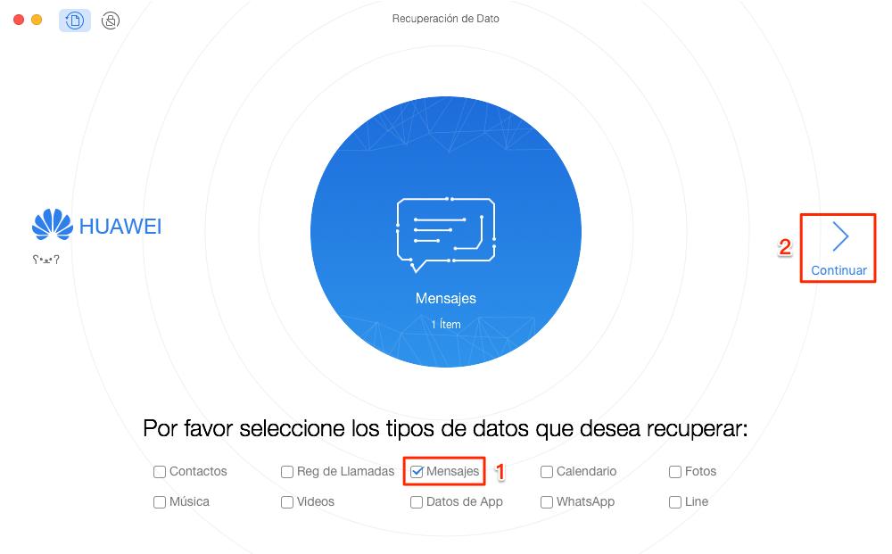 Cómo recuperarSMS Android Phone - Paso 2